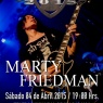 04 de Abril: Guitar Fest 2015 - Marty Friedman en Chile