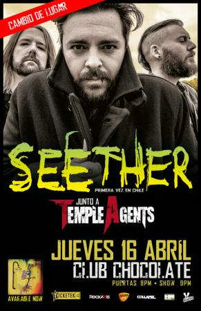Seether en Chile - Club Chocolate - 16 de Abril